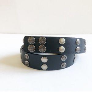 Harley-Davidson Black Leather Studded Belt